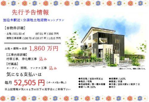 カリーナ8月イベントチラシ(建売情報)